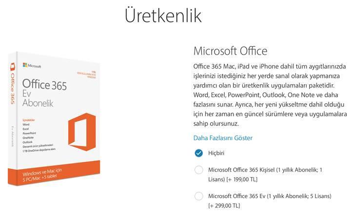 Apple, iPad Pro alanlara Office 365 satın almayı öneriyor