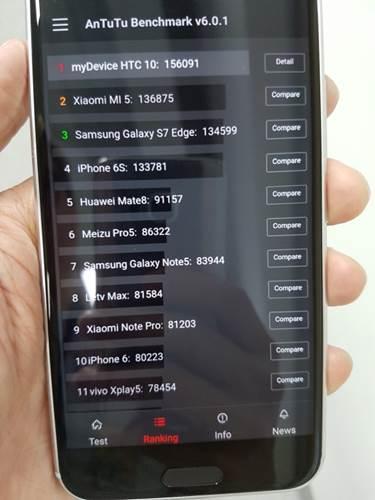 HTC 10 benchmark sonuçlarında Galaxy S7'yi geride bırakıyor