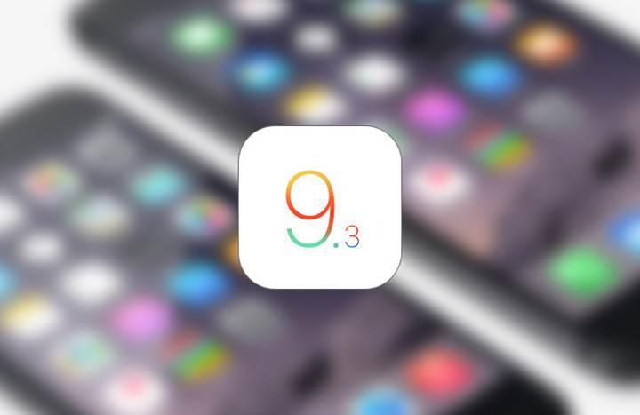 iOS 9.3 güncellemesi, önceki nesil cihazlar için durduruldu