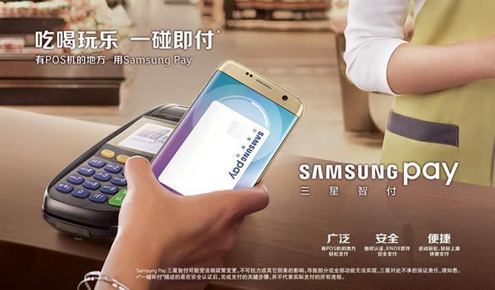 Samsung Pay Çin'in trilyon dolarlık mobil ödeme pazarına katıldı