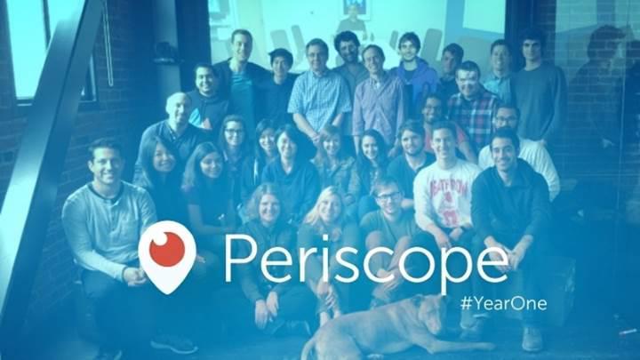 Periscope, ilk yılında 200 milyon canlı yayına ev sahipliği yaptı