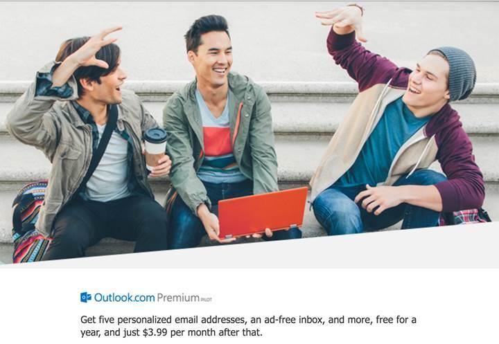 Microsoft aylık 3.99 dolar ödemeli Outlook Premium aboneliğini test ediyor