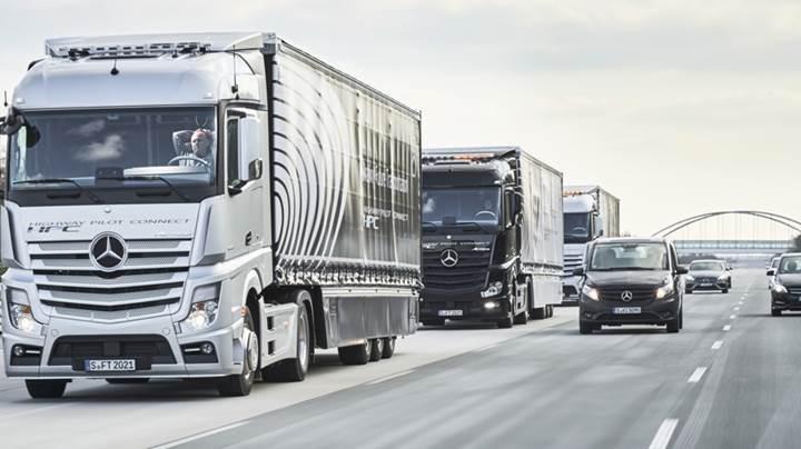 Mercedes-Benz'in otonom TIRları Avrupa'yı dolaşıyor