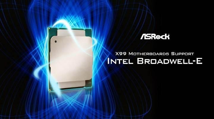 ASRock, tüm X99 anakartlarını Broadwell-E işlemciler için güncelliyor