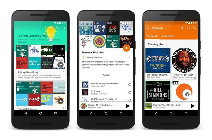 Google Play Müzik podcast desteğine kavuştu