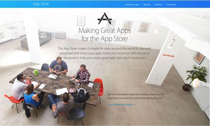 Apple'ın geliştirici portalına App Store odaklı güncelleme