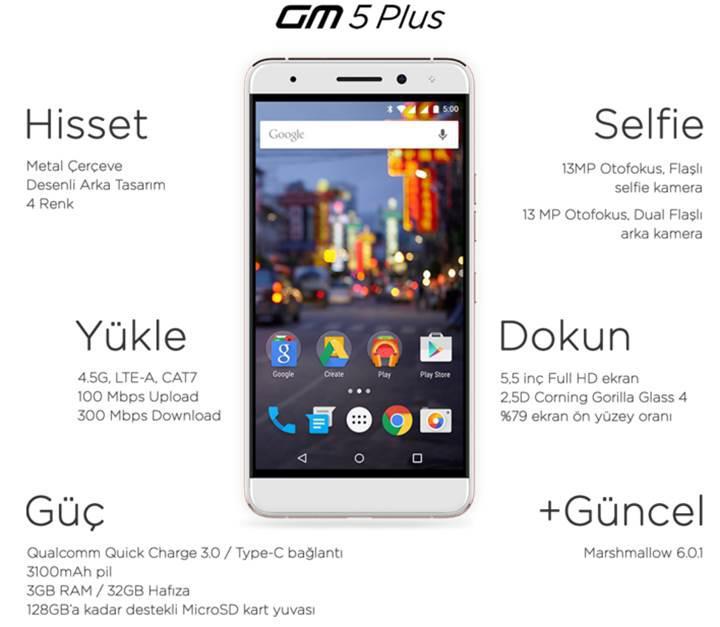 General Mobile GM 5 Plus satışları başladı
