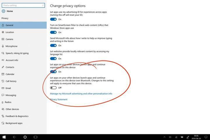 OS X'in hand-off özelliği Windows 10'a geliyor