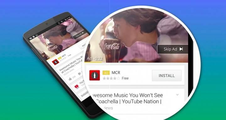 YouTube mobil platforma 6 saniyelik izlenmesi zorunlu reklam getiriyor