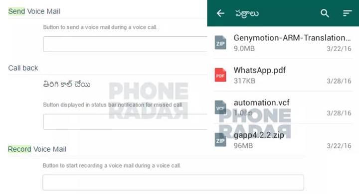 WhatsApp'a geri arama, sesli mesaj ve ZIP dosyası paylaşım desteği geliyor