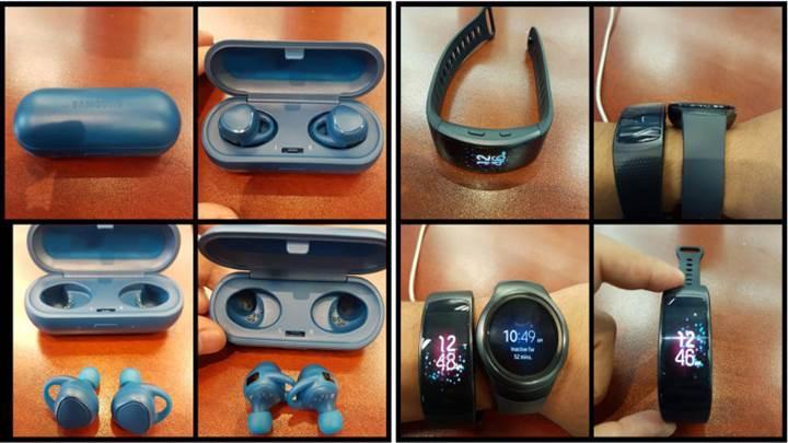 Samsung Gear Fit 2 ve IconX kulaklıklar resmi sitede, ama yanlışlıkla...