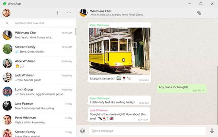 WhatsApp Web artık masaüstünde
