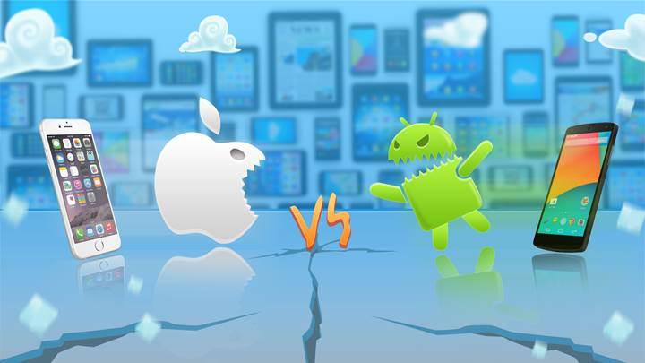 Android telefonlar iPhone'lardan daha fazla çökme eğiliminde