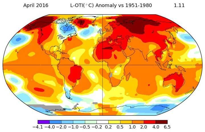 İklim değişikliği: Nisan ayında sıcaklık rekoru, 2016 tarihin en sıcak yılı olacak