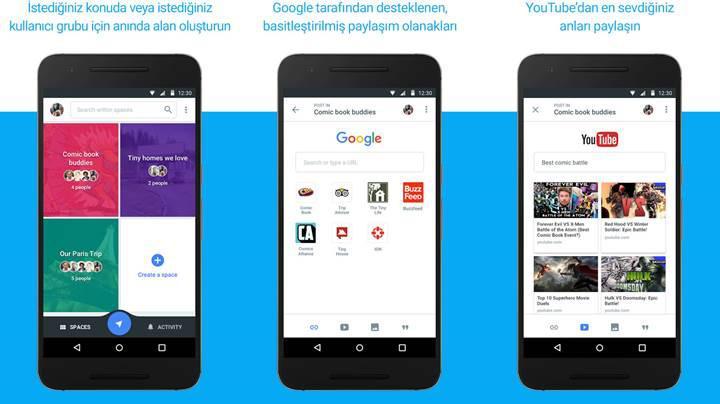 Google Spaces grup paylaşımı uygulaması yayınlandı