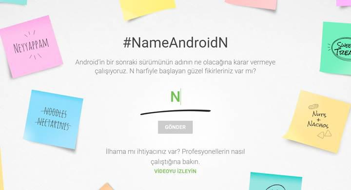 Google, Android N'e isim bulmanızı istiyor