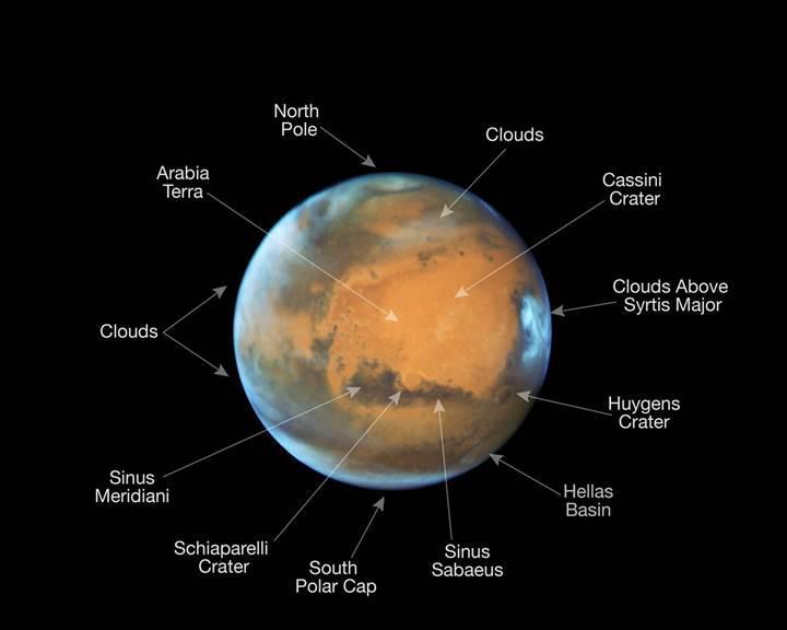 Kızıl Gezegen'e yakın bakış: İşte Hubble'ın inanılmaz Mars fotoğrafı