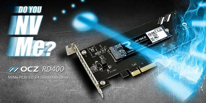 Toshiba, OCZ RD400 NVMe SSD serisini duyurdu