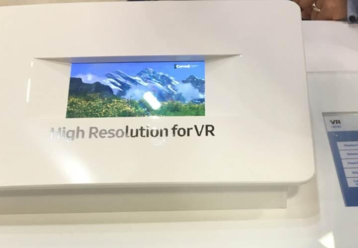Samsung'dan sanal gerçekliğe yönelik 5.5 inç 4K ekran