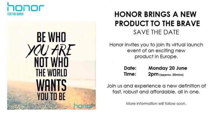 Huawei 20 Haziran'da Avrupa'da yeni bir Honor modelini piyasaya sürmeyi planlıyor