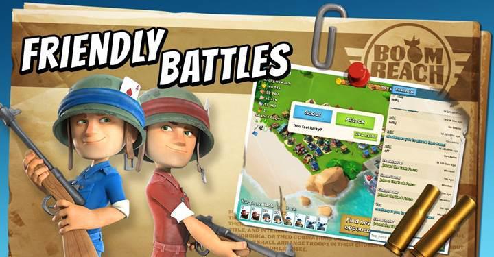 Boom Beach'in yeni güncellemesi ile oyuna dostluk savaşları geliyor