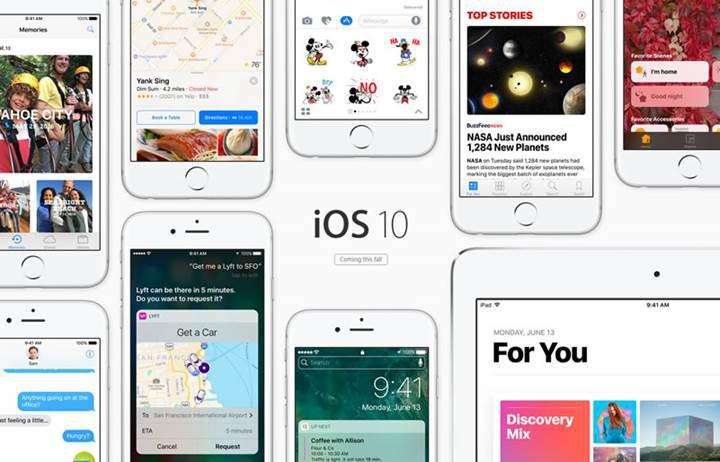 Apple WWDC 2016 etkinliğinde iOS 10'u tanıttı