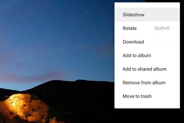 Google Photos slayt gösterisi desteğine kavuştu