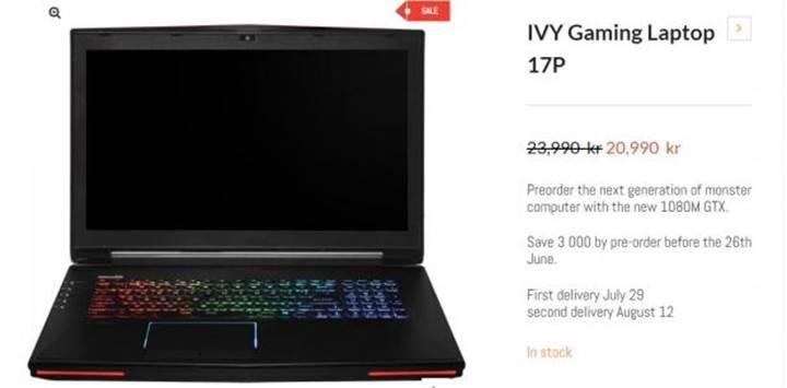Nvidia GeForce GTX 1080M ortaya çıktı
