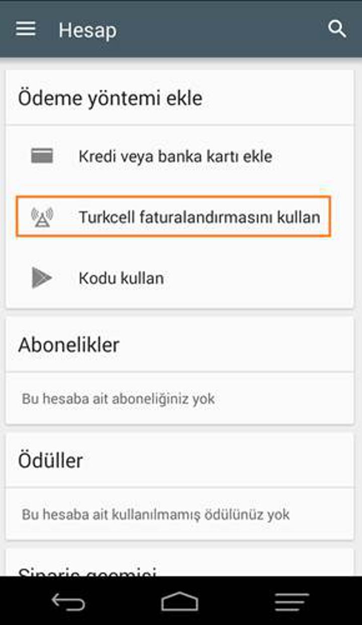 Turkcell'den Google Play Store'da geçerli 15TL hediye