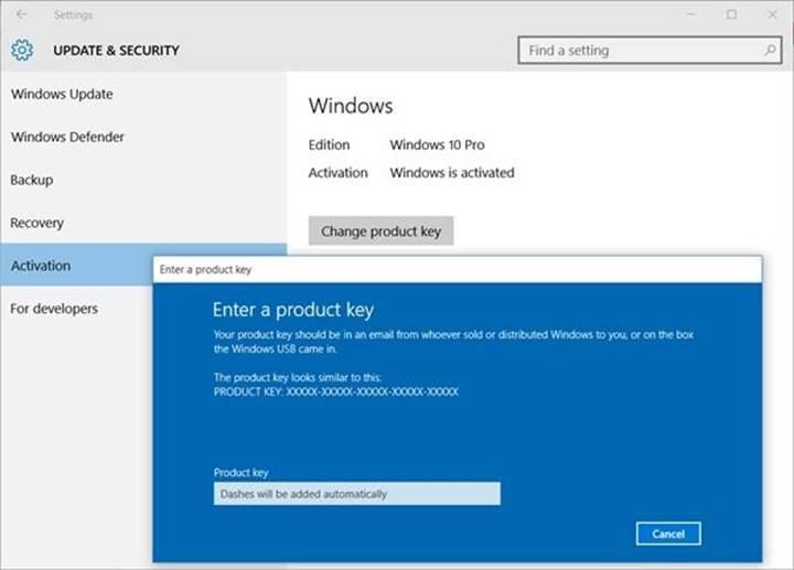 Windows 10 lisansları artık Microsoft hesabına bağlanabiliyor
