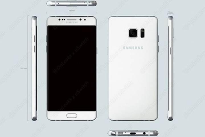 Samsung Galaxy Note 7 görsel çalışmaları sızdırıldı