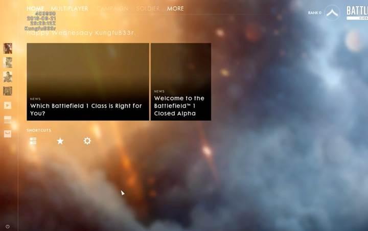 Battlefield 1′in arayüzü böyle olacak