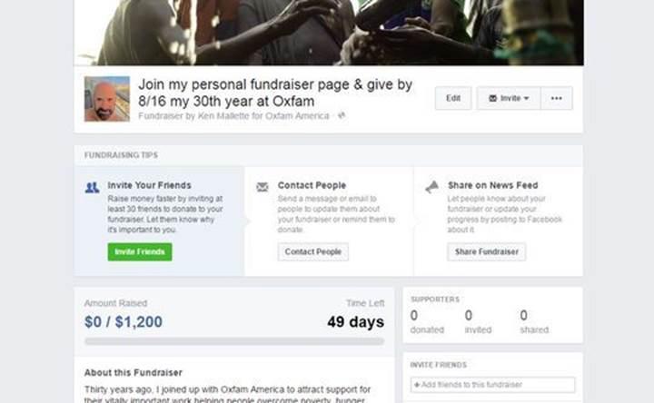 Artık herkes Facebook'tan bağış toplayabilecek