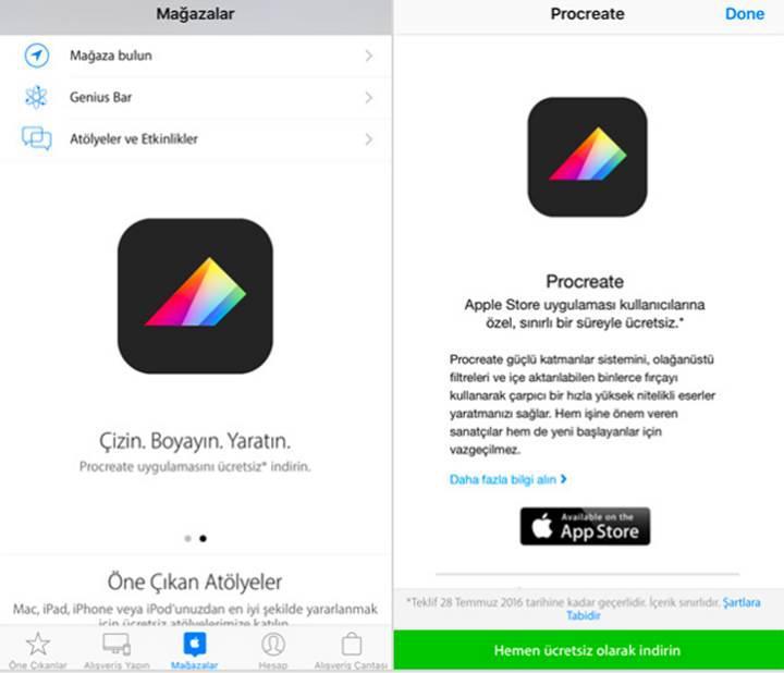 Popüler iPhone uygulamasını ücretsiz indirin