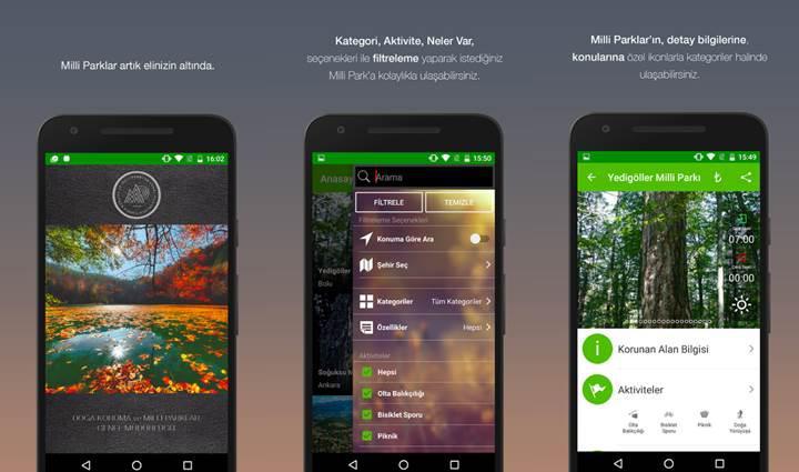 Milli parklarımıza özel mobil uygulama