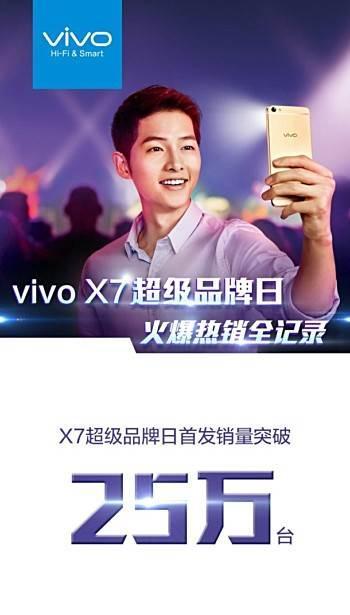 Vivo X7 ilk gün 250 bin adetlik satış rakamına ulaştı