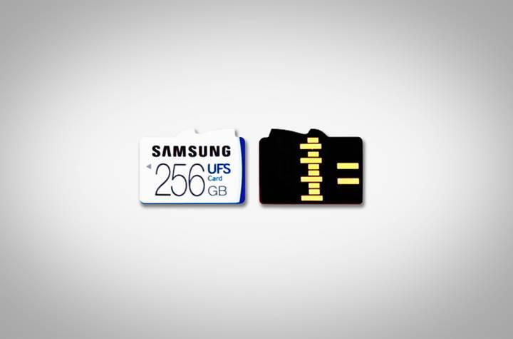 Samsung hem UFS hem de microSD kartları destekleyen bir slot tasarladı