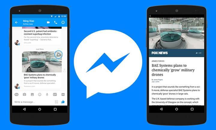 Facebook Instant Articles özelliği artık Messenger'da