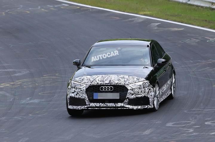 2017 model Audi RS3 Sedan test edilirken kameralara yakalandı
