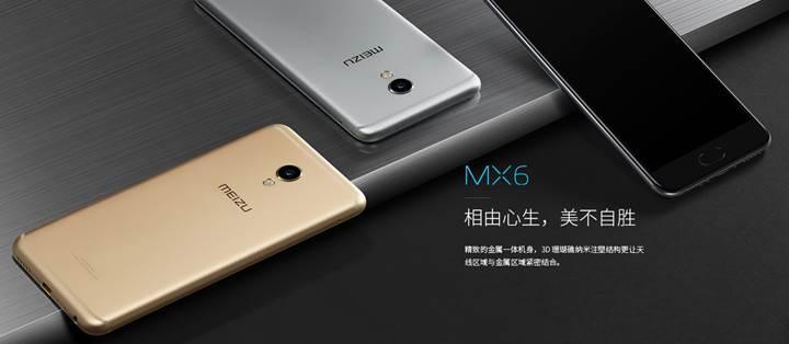 Meizu MX6 duyuruldu