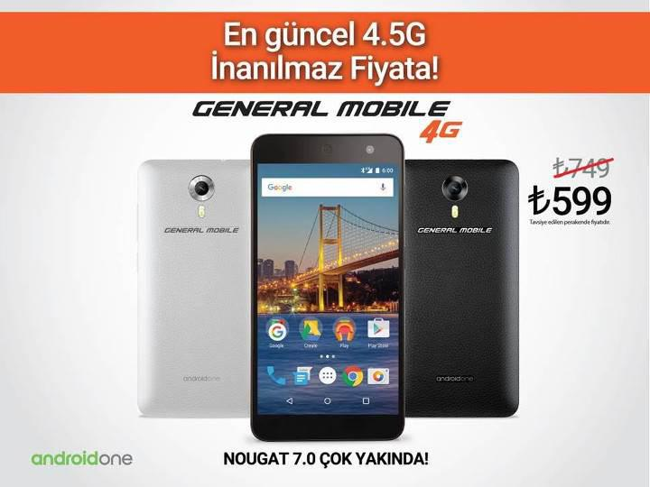 599TL'ye Android 7.0 ve 4.5G deneyimi