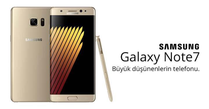 Samsung Galaxy Note 7, ön siparişlerde görünmeye başladı