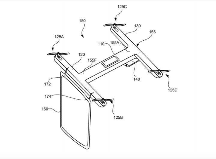 Google'dan drone'lar için görüntülü görüşme patenti