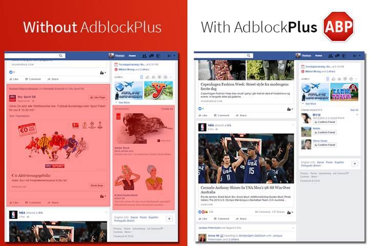 Facebook ile Adblock Plus arasındaki gerginlik tırmanıyor