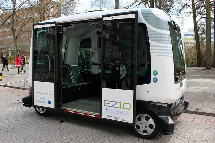 Finlandiya toplu taşımada sürücüsüz minibüsleri kullanmaya başlıyor
