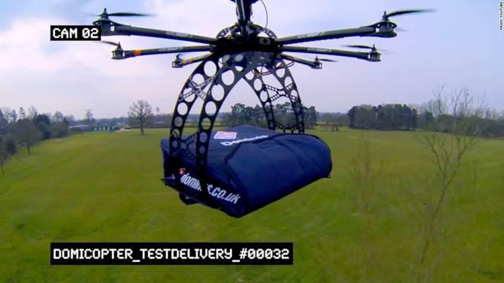 Domino's drone ile pizza teslimatına başlıyor