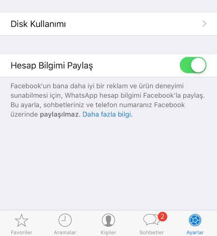 WhatsApp telefon numaranızı Facebook'la paylaşacak