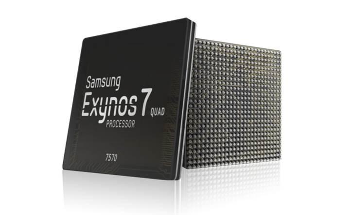 Samsung'dan giriş seviyesine yönelik Exynos 7570 yonga seti