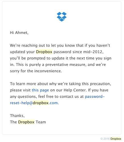Dropbox şifrenizi değiştirin: 68 milyon kişinin kullanıcı bilgisi çalındı