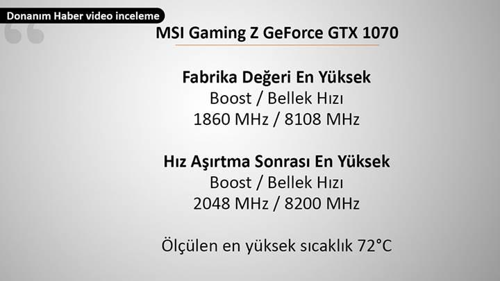 MSI Gaming Z GeForce GTX 1070 video inceleme